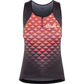 Alé Cycling Solid Hexa Mouwloof Fietsshirt Dames, black-lollipop